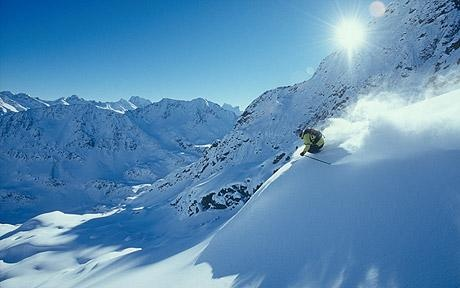 St Anton off piste skiing