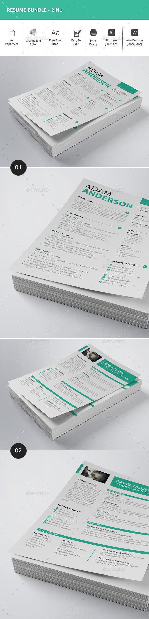 32 best Resume Templates images on Pinterest | Resume templates ...