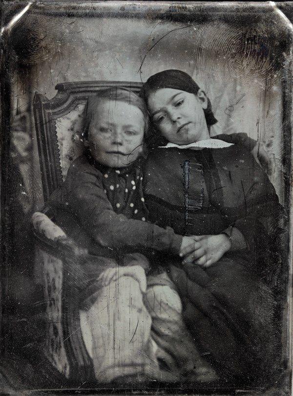 Portrait of two children, Paris 1848
