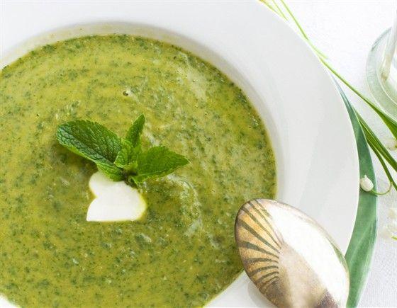 Суп пюре из стручковой зеленой фасоли