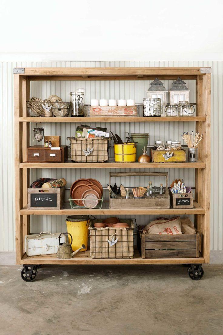 The garage turned garden shed storage ideas country living - The Garage Turned Garden Shed Storage Ideas Country Living