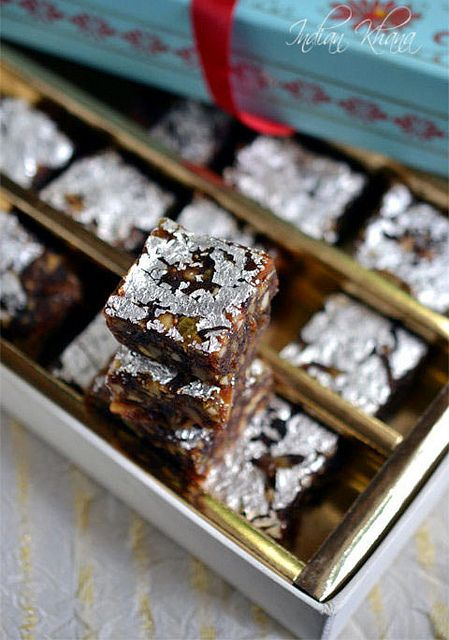 Dried Fruit Burfi | If you don't have Rose Petal Chutney (gukland) the author says not to worry, but I might try subbing it out with a few drops of rose water.