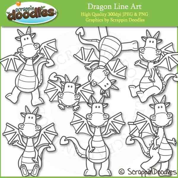 Line Art Activities : Dragon line art clip pinterest activities