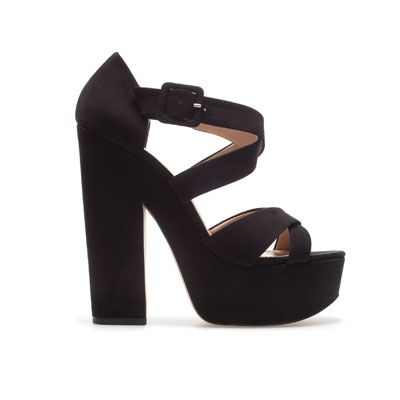 PLATFORM SANDAL - Heeled sandals - Shoes - TRF - ZARA United States