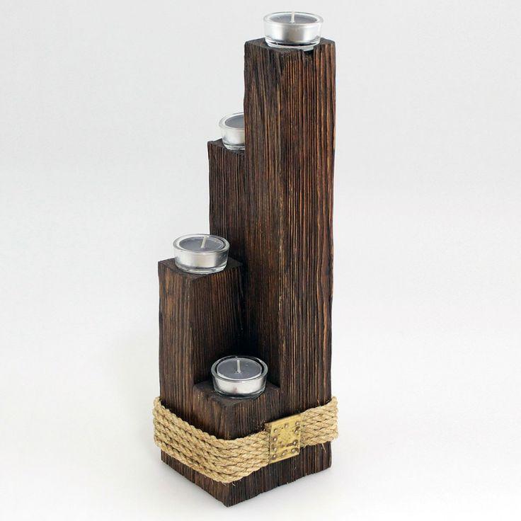 #drewno #świecznik #sznurek #skandynawia #stylskandynawski #candles #rustic #ike #fabrykapomyslu