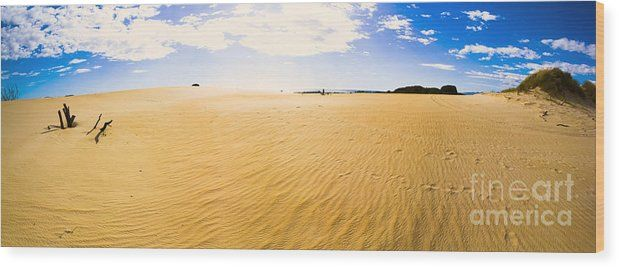 Desert Wood Print featuring the photograph Australia Desert Sand Panorama by Jorgo Photography - Wall Art Gallery