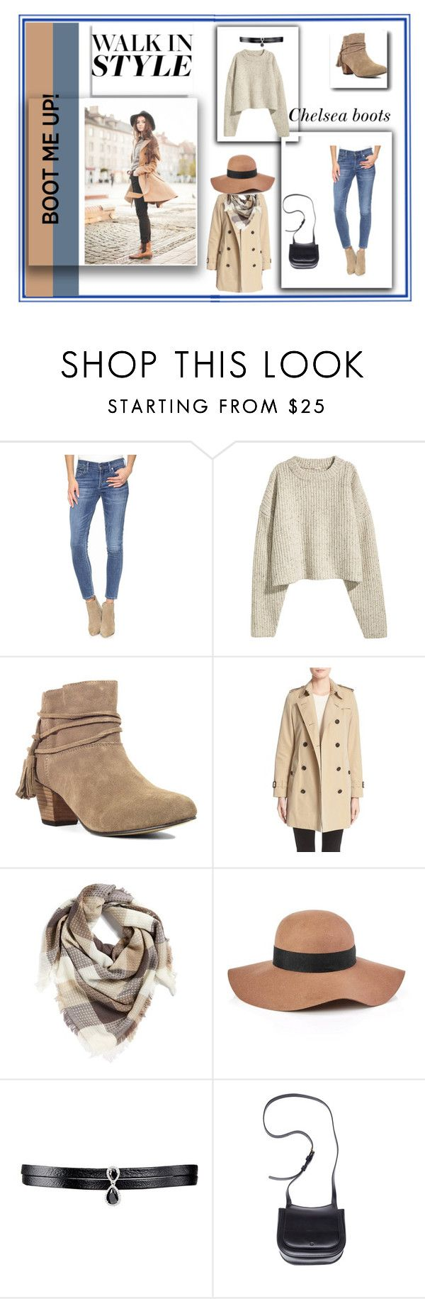 """Chelsea Boots"" by colonae ❤ liked on Polyvore featuring Citizens of Humanity, Chelsea Crew, Burberry, BP., Reiss, Fallon and The Row"