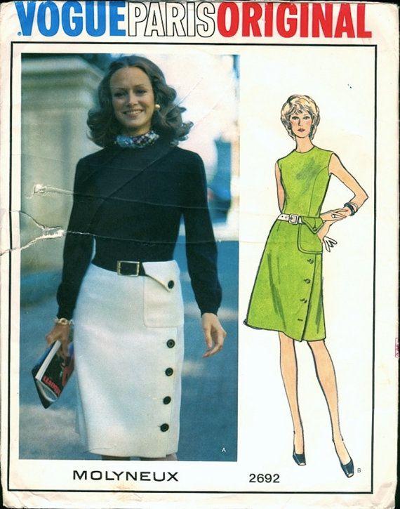 Edgy Uncut Vintage 1970s Vogue Paris Original by NostalgieVintage
