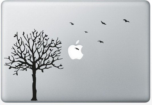 Stickers Macbook 11-13-15-17 inches  Tree & Birds by PimpMyMacFr