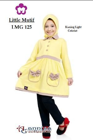 Baju Blus Anak Little Mutif Girl LMG-125  Lime Light