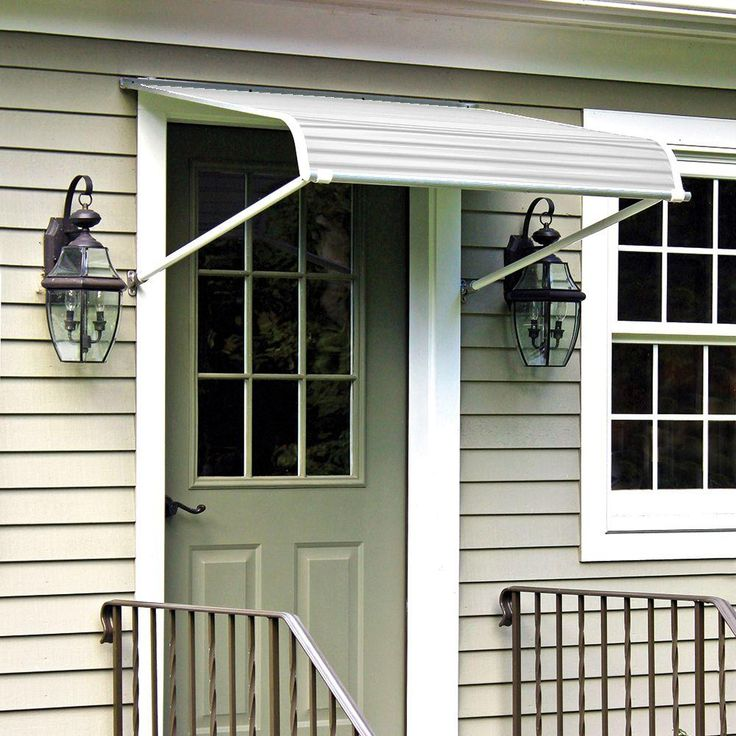 NuImage Awnings 6 ft. 1100 Series Door Canopy Aluminum Awning (15 in. H x 36 in. D) in White-K110607201 - The Home Depot