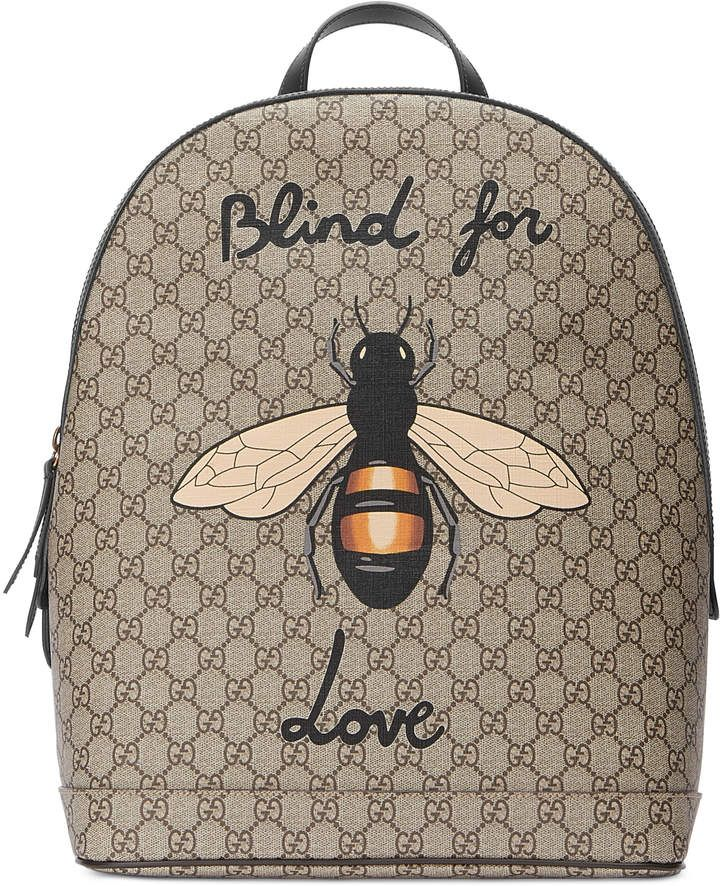 e6afd1a2 Bee print GG Supreme backpack | Beauty Snap in 2019 | Supreme ...