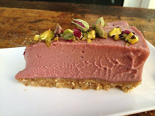 Turkish Delight Cheesecake (The Raw Kitchen)