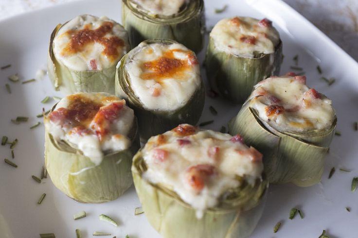 Alcachofas al horno con jamón y bechamel - Recetasderechupete.com