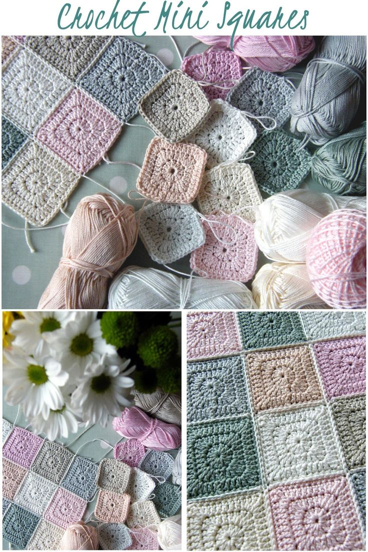 Great colors... Love the idea of crocheting really small squares and joining them together