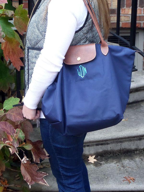 Buy Best Light Longchamp Embroidered Backpack Pink