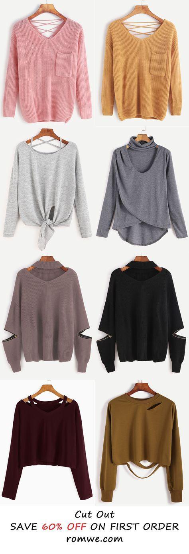 Me encanta el gris oscuro. Cut Out Style - romwe.com