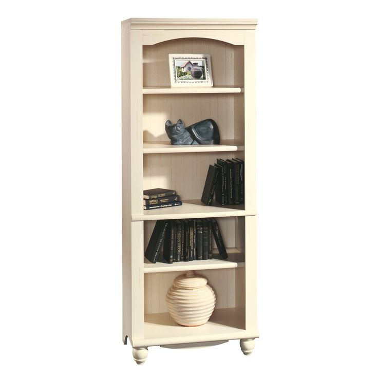 Amazon.com: Sauder Harbor View Library, Antiqued White