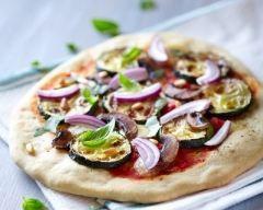 pizza aux courgettes et champignons