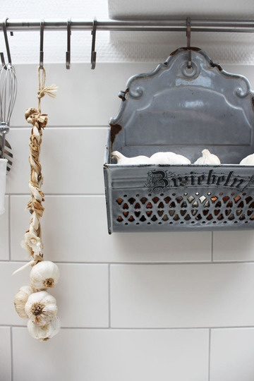 love this idea for useful yet attractive kitchen organization