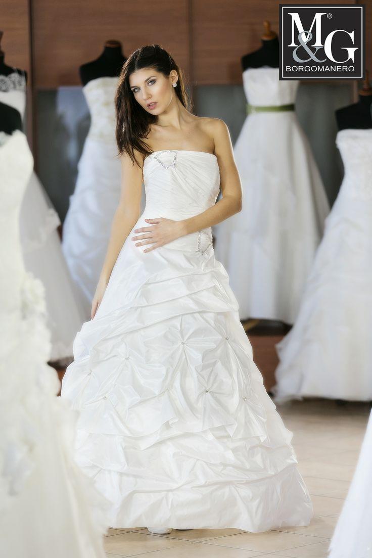 wedding dress - Silk taffeta' - Abito in taffeta di seta M&G Collezione Couture 026 - really made in Italy!!
