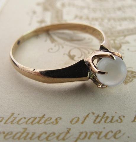 Moonstone Orb Ring: Gift, Engagement Ring