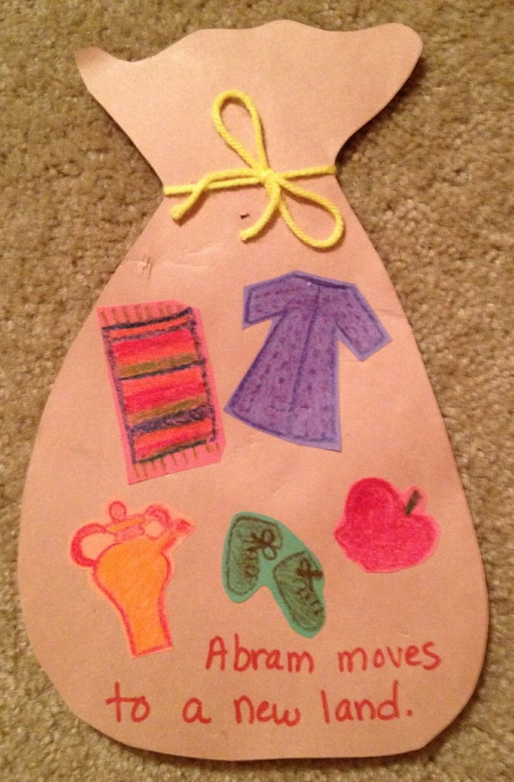 Crafts for sunday school lessons - Old Sunday School Crafts Abram Abraham Moves To A New Land What