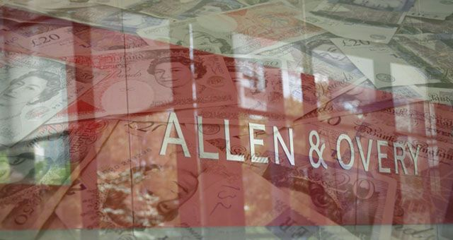 Allen & Overy ups junior lawyer pay by A QUARTER to blow away rest of magic circle