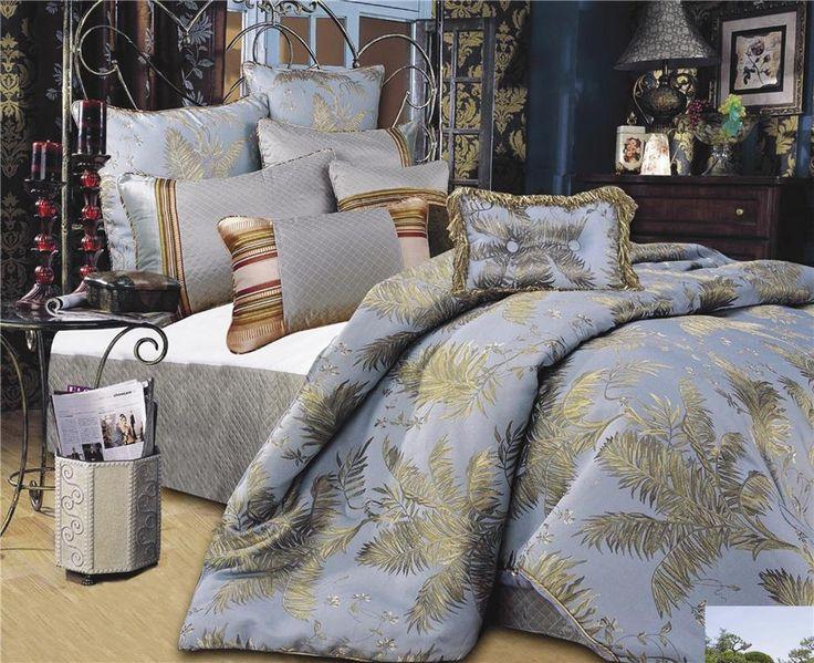 Palm Tree Bedspread King Luxury Comforters Set