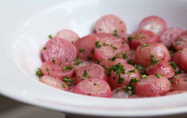 ... pan seared radishes with miso butter butter braised radishes with snow