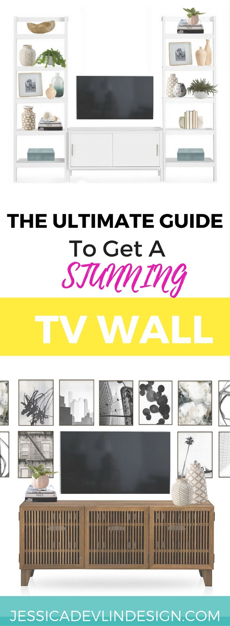 How to decorate TV wall, Gallyer Wall, built-ins around TV.