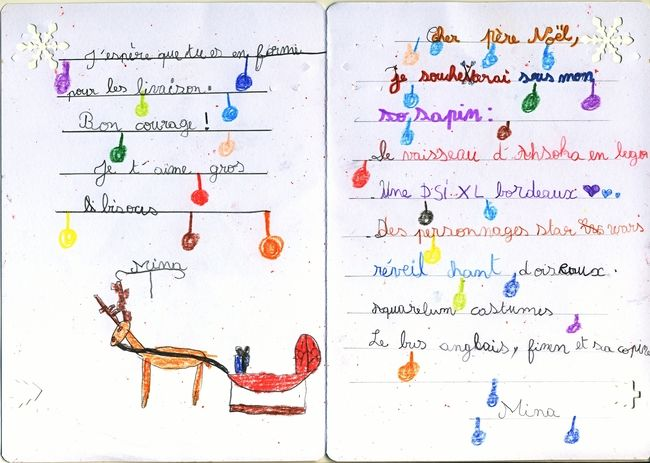 Sample Letter To Santa In French  Nol Pour Enfants