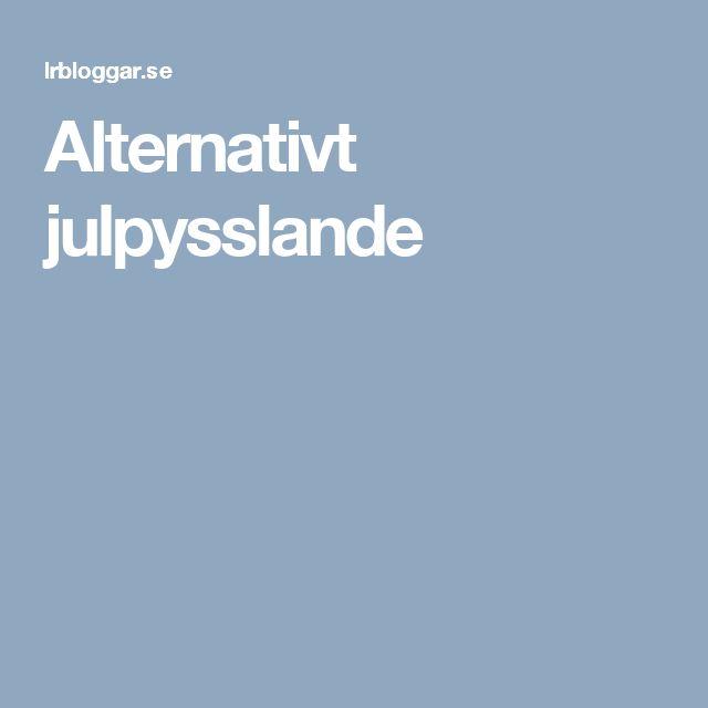 Alternativt julpysslande