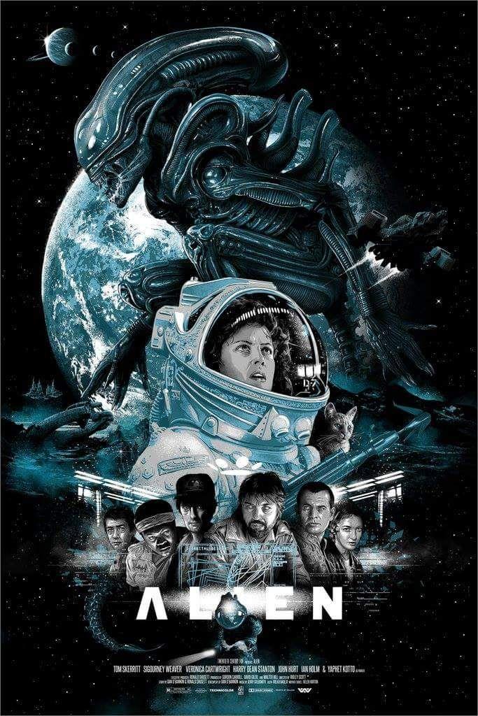 Pin Von Luis Naranjo Auf Aliens Predators Horrorfilm Poster Alien Film Filmkunst