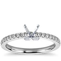 0.9 Carat Diamond Petite Pavé Diamond Engagement Ring | Recently Purchased | Blue Nile