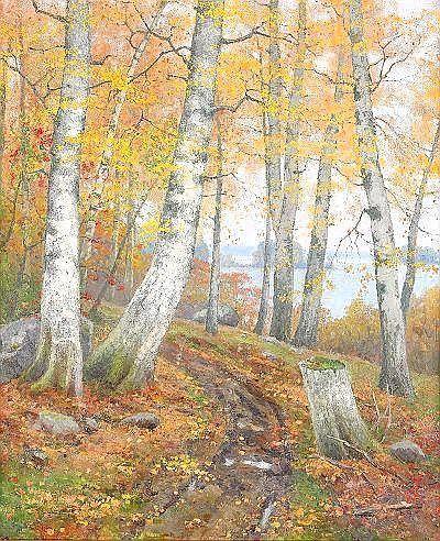 Autumn landscape, ELLEN FAVORIN 1853-1919