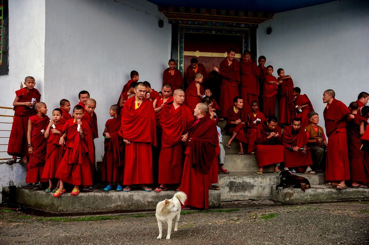 Monks await the arrival of the Rinpoche by Vishwa Kiran on 500px