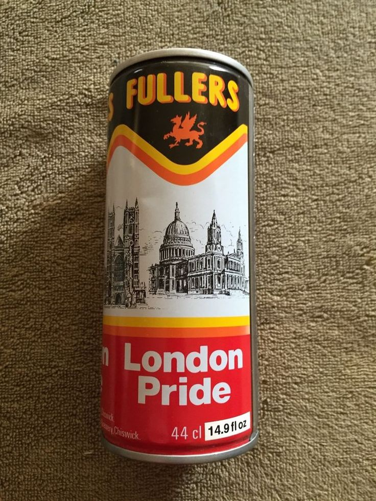 FULLERS LONDON PRIDE Beer Can - Pull Top (Opened from the Bottom)