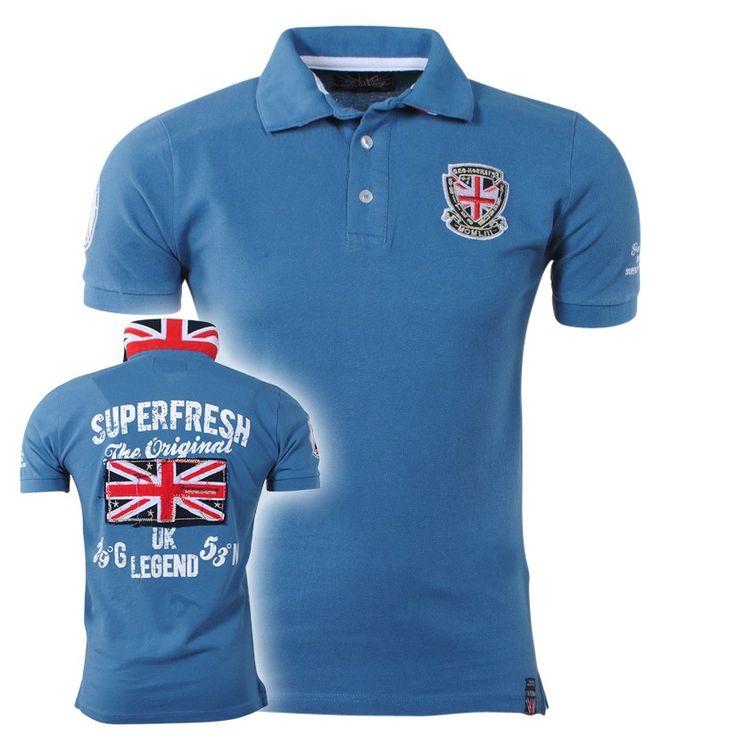 Geographical Norway - Trendy Polo Shirt - Karting - Blue - Moda Italia