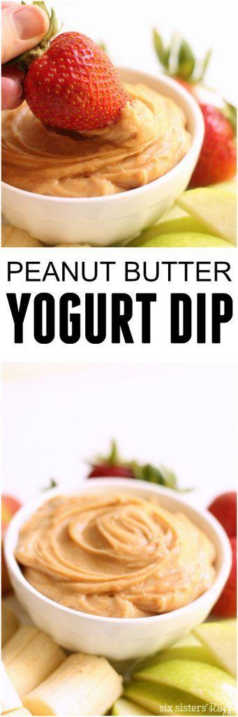 Fruity Peanut Butter Yogurt Dip on SixSistersStuff.com