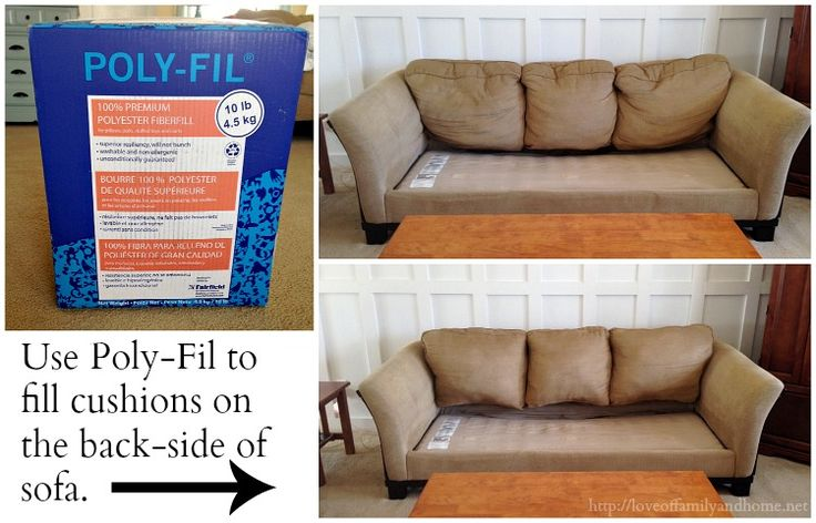 Hometalk :: How To Fix a Saggy Sofa  A professional upholsterer also offered this tip, in the comments: Cathy KochendorferEagle River, AK  As a professional upholster, you can put foam in large plastic bag, use a shopvac or home vacuum and suck air out, flattening the foam. Slip on the cover and then turn off vacuum. Foam will expand to original size, remove plastic and zip up closure. Hope this helps!