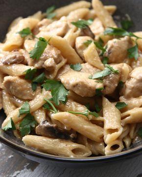 One-Pot Creamy Chicken Marsala | This Easy One-Pot Chicken Marsala Pasta Dinner…
