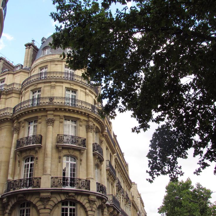 Beautiful Parisian buildings - Paris, France, July 2015