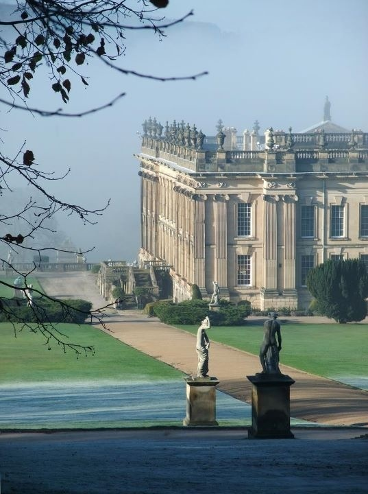 2017 is the 200th anniversary of Jane Austen's death. Chatsworth House in Derbyshire, England was used as Pemberley, Mr Darcy's home, in the film version of Pride and Prejudice.
