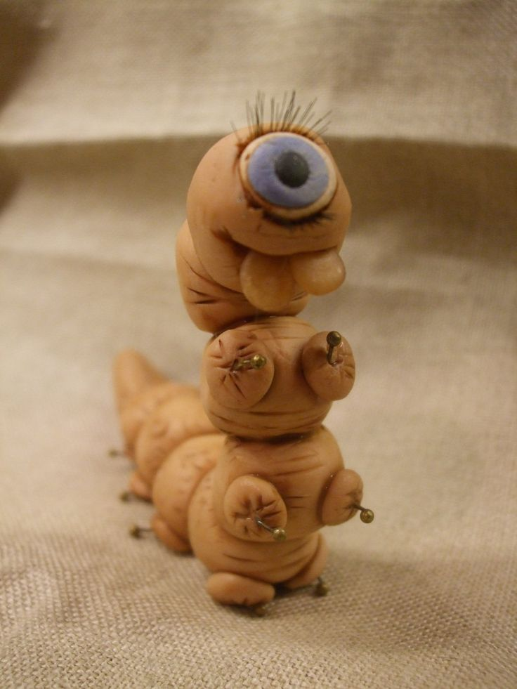 Cecil the one eyed worm by ReevarooCreations on Etsy