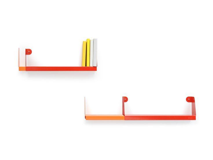Double shelving by Sebastian Bergne, manufactured by Tolix.  #Tolix #shelf #shelving #sheetmetal