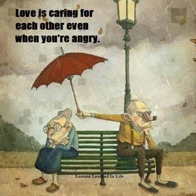 This is me and John but I'd be the grumpy man holding the umbrella ;) lol