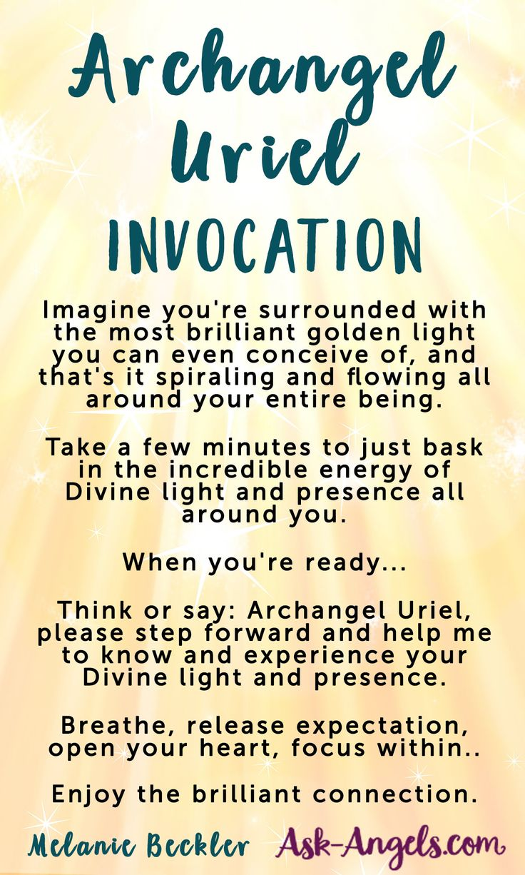 Invocation to Connect with Archangel Uriel