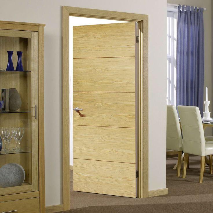 Bespoke Lille Oak Flush Fire Rated Door - Prefinished.    #oakdoor #lilledoor #internaldoor #firedoor #interiordesign #moderndesigndoor #moderninterior #contemporaryinterior