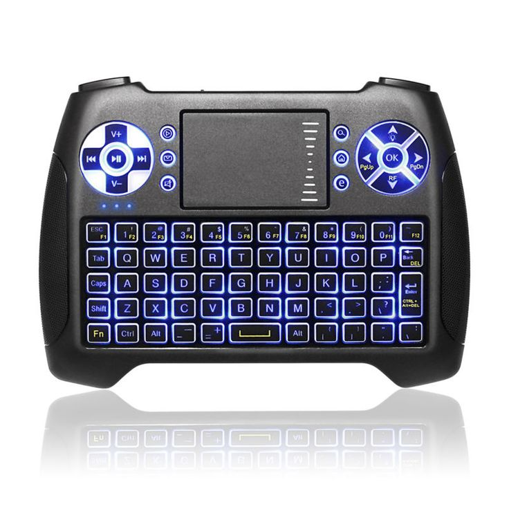 Anewkodi T16 Backlit Mini Gaming Keyboard 2.4GHz Wireless Fly Air mouse with Touchpad for Smart TV Android Box Laptop PC PS3